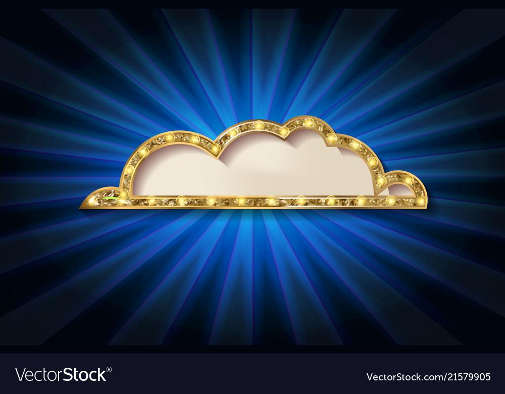 Golden glitter speech bubble frame isolated on