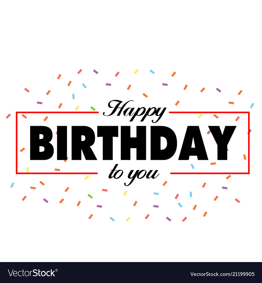 Happy birthday to you ribbon background ima