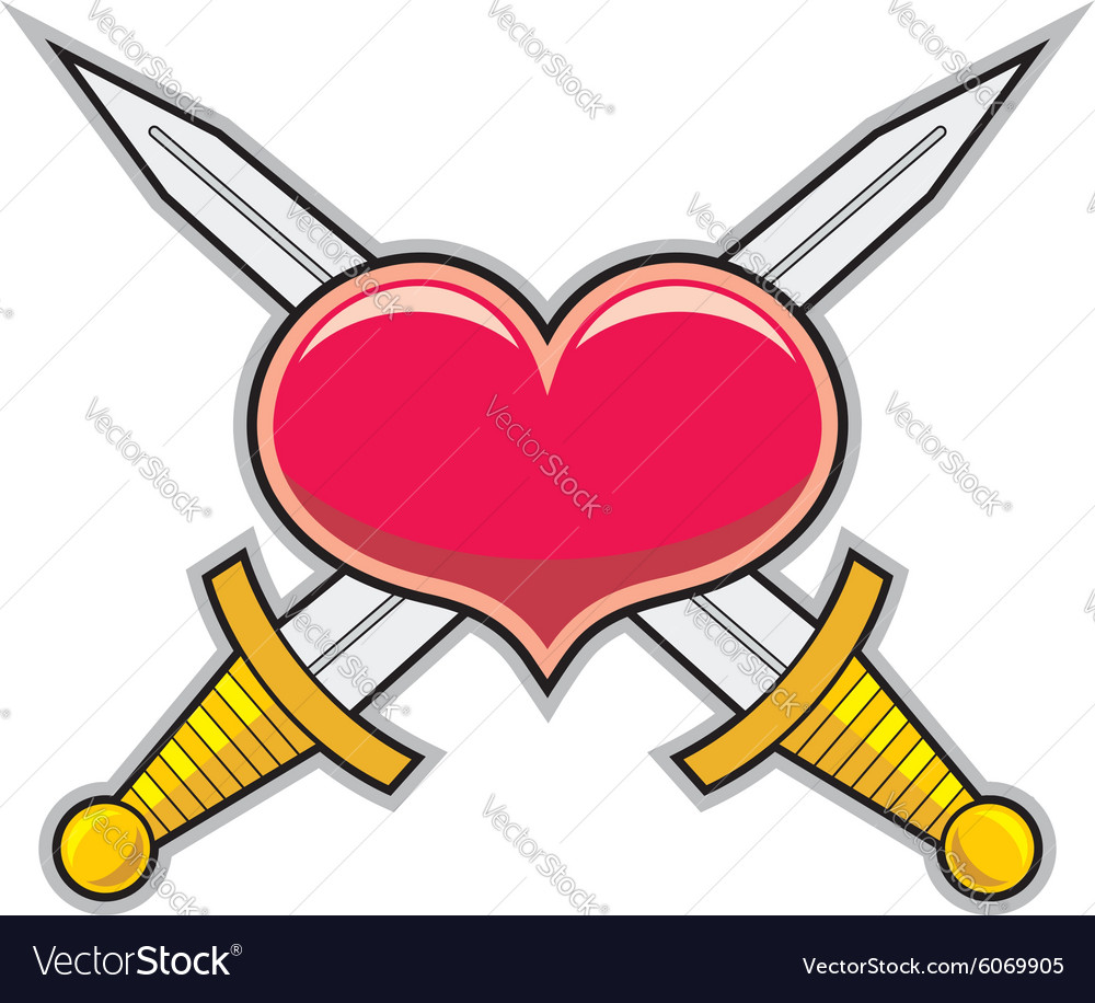 Heart and swords