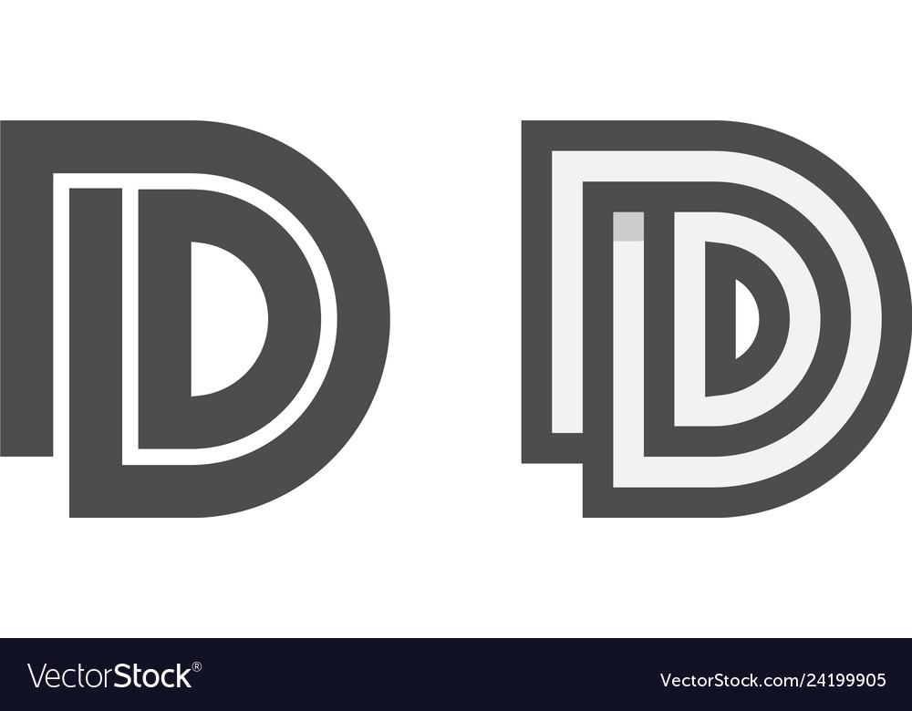 Initial d logo design inspiration