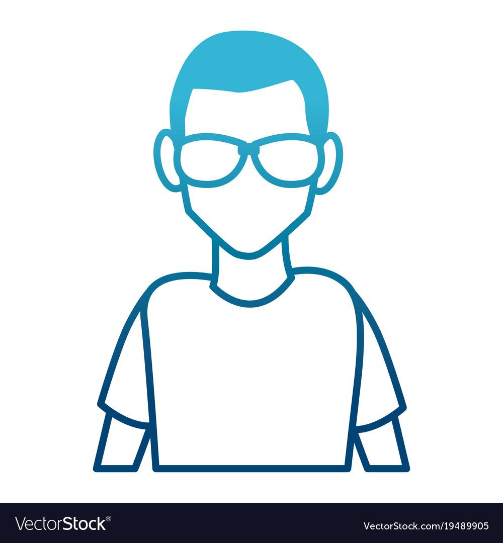 Man with sunglasses cartoon