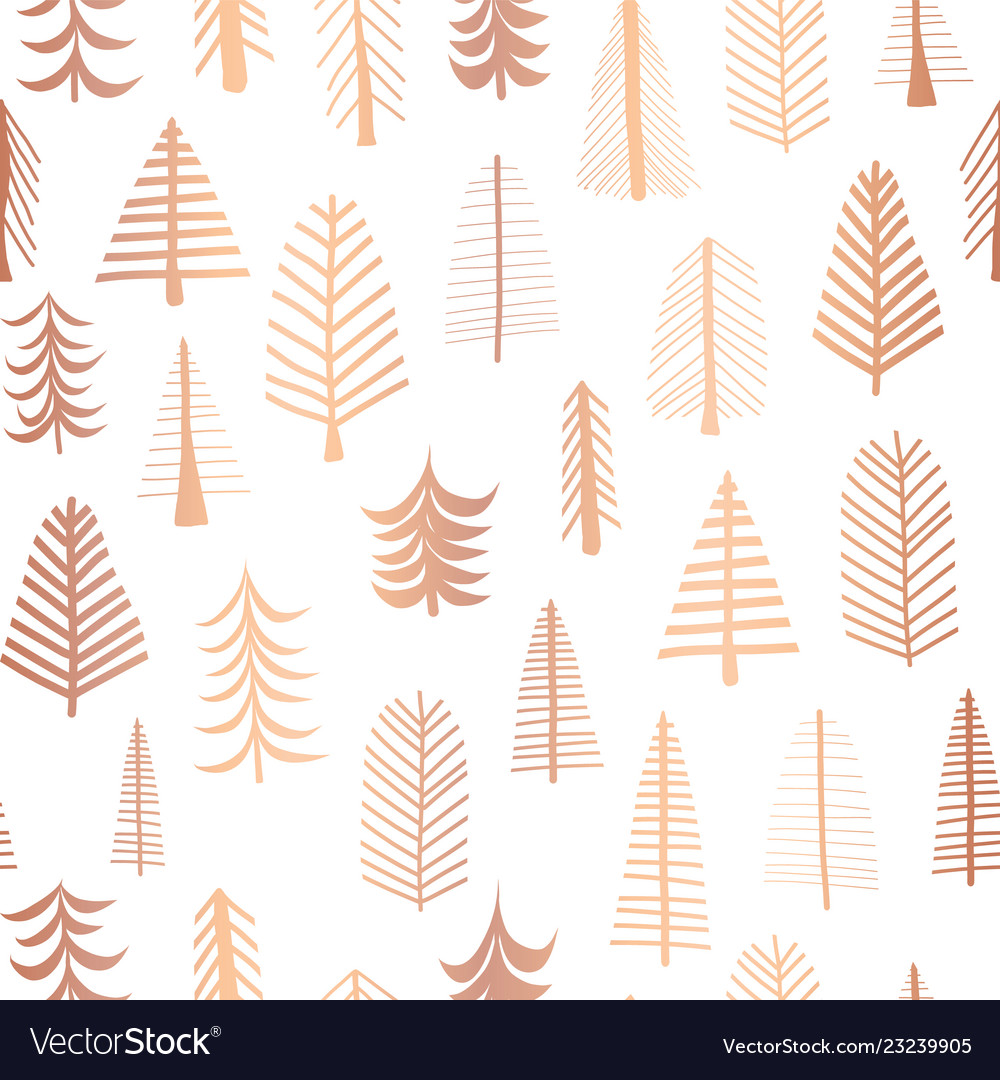 Seamless christmas tree copper foil pattern