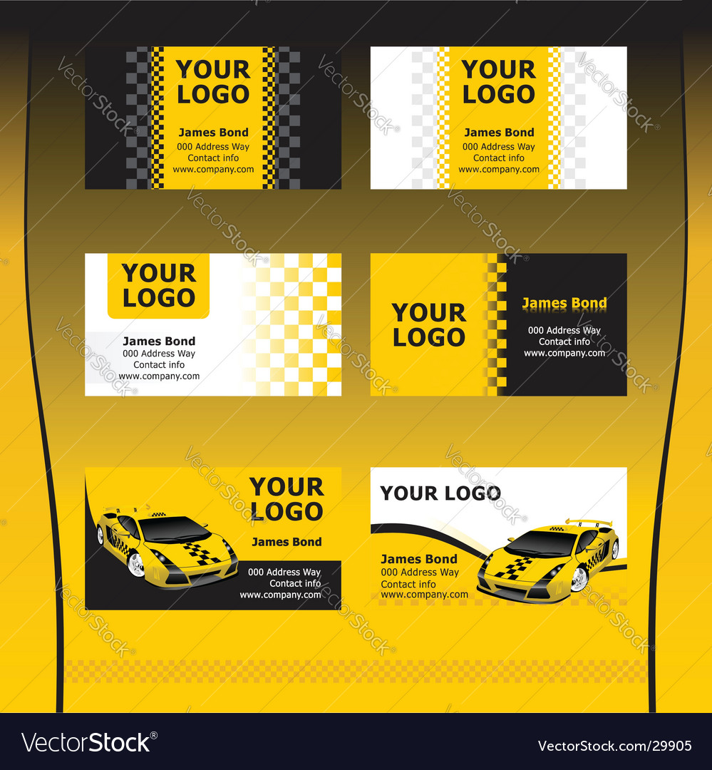 Taxi service business cards royalty free vector image taxi service business cards vector image colourmoves