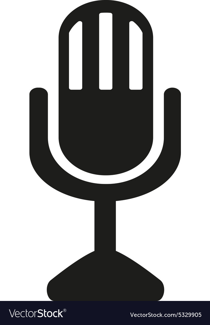 The Mic Icon Microphone Symbol Flat Royalty Free Vector