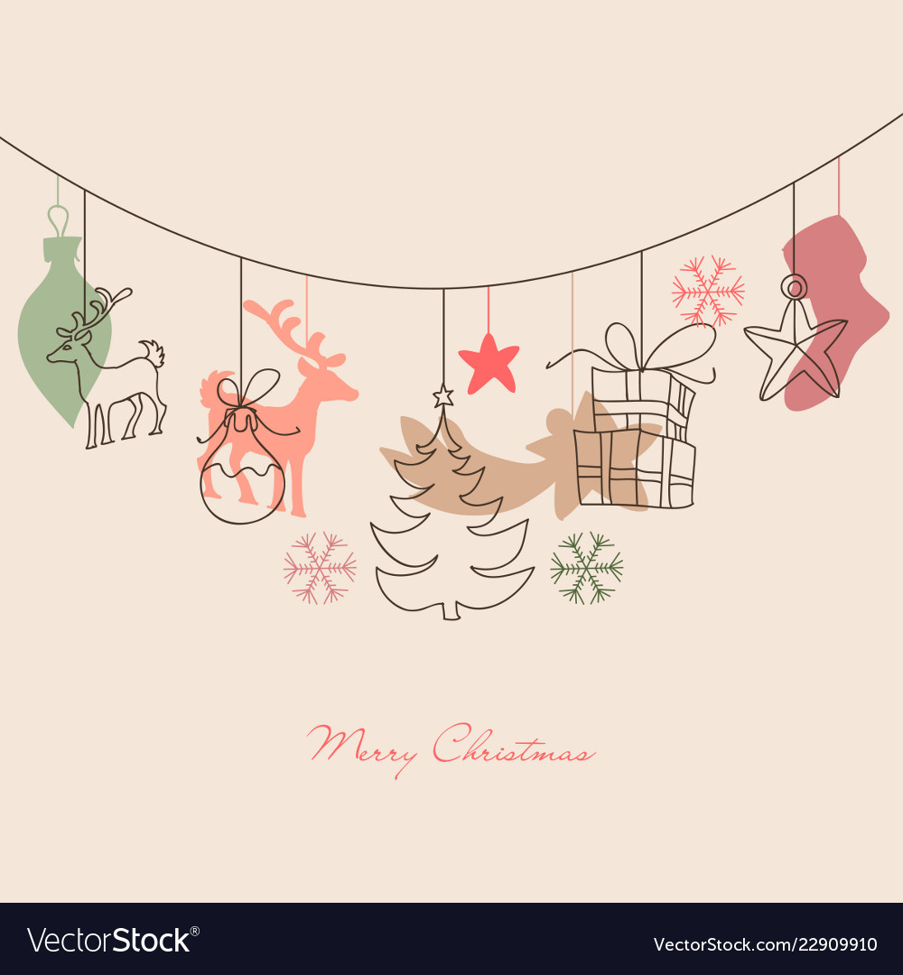 Christmas background cute holiday ornaments