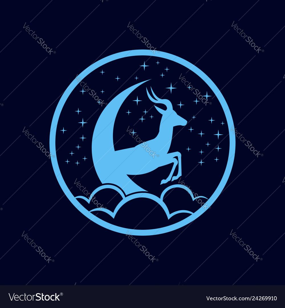 Deer space moon dream