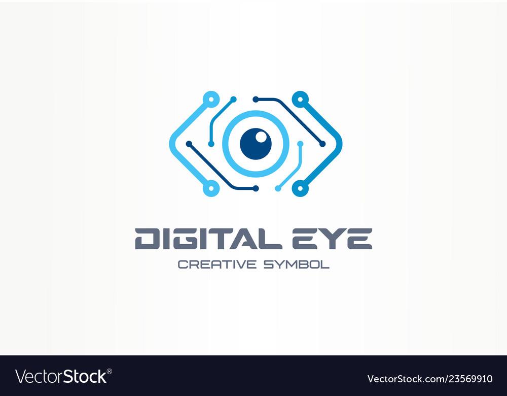 Digital eye creative symbol concept cyber vision