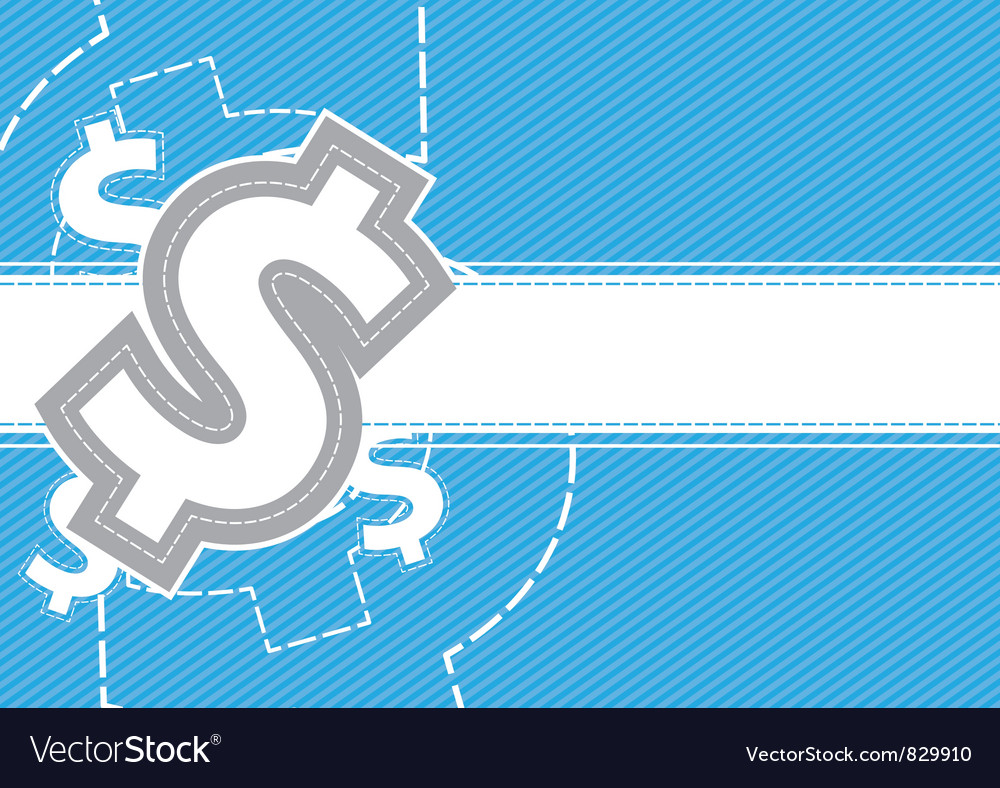 Money background design vector image