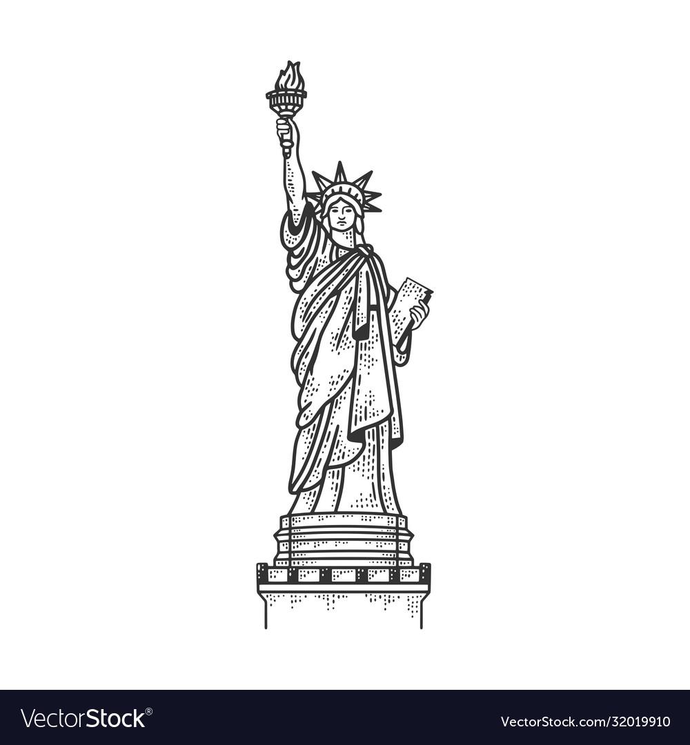 Statue liberty sketch