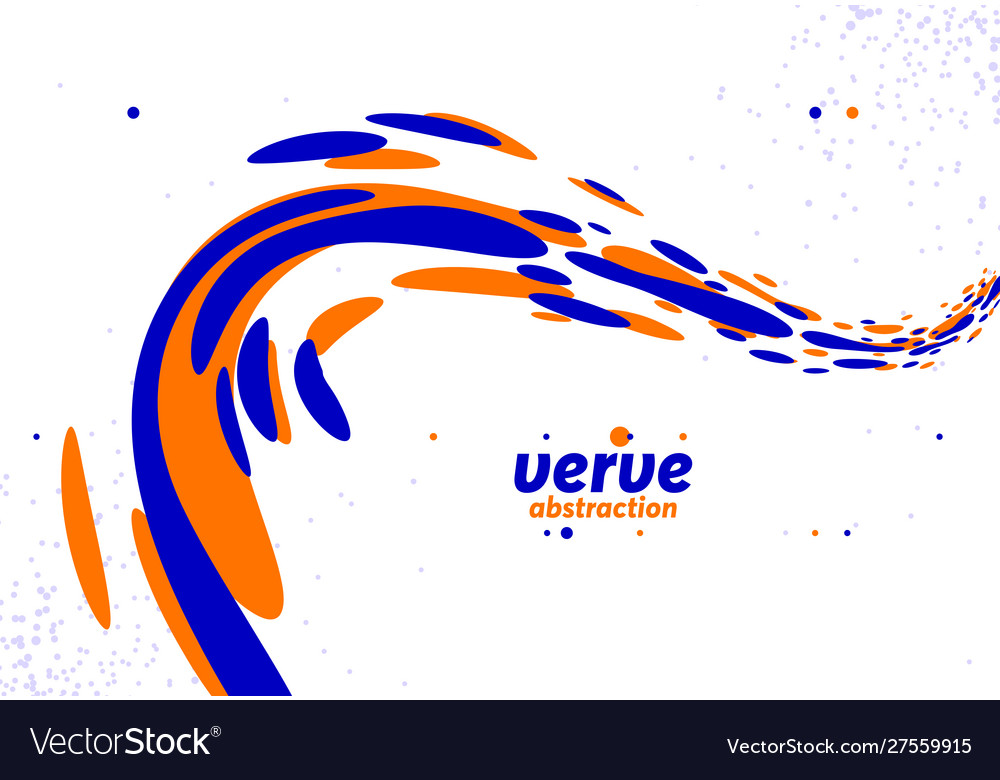 Abstract Curve Lines And Fluid Shapes Background