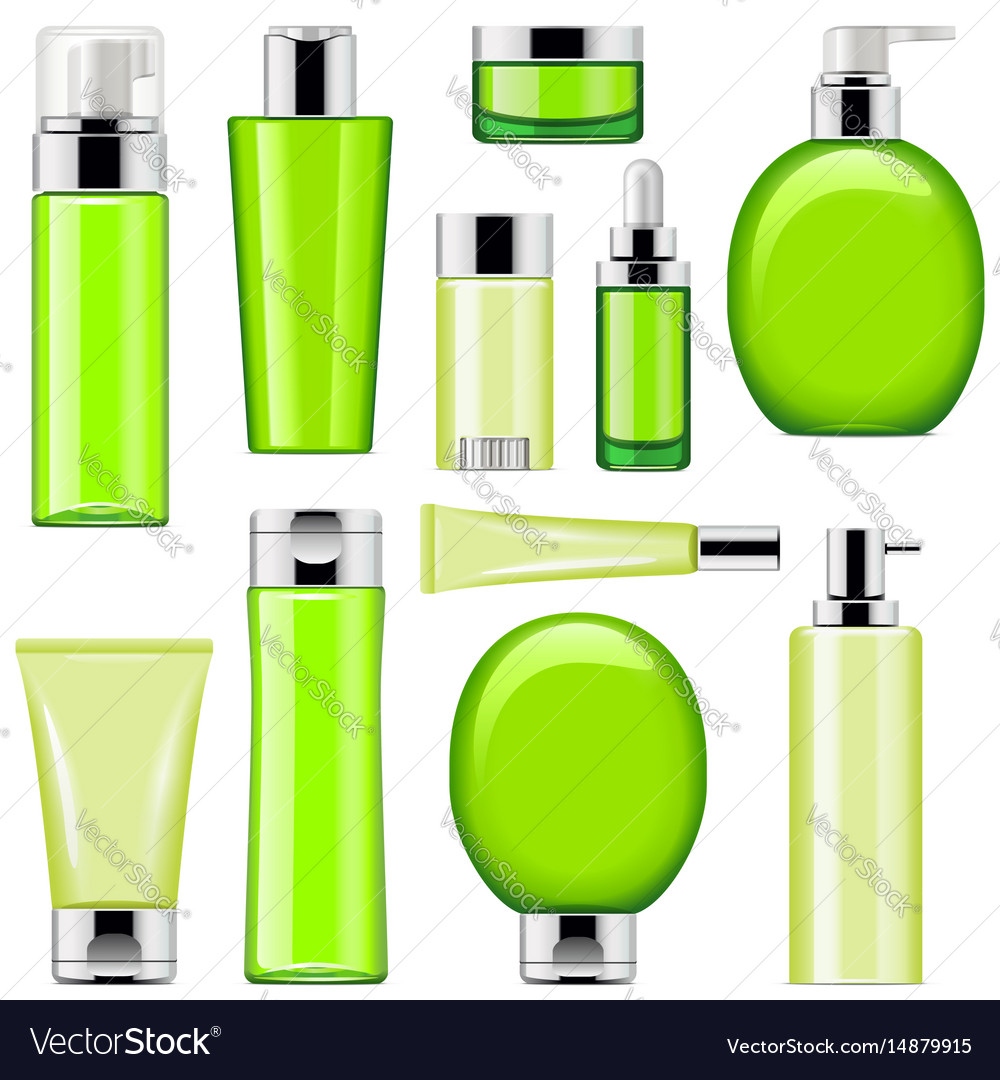 Cosmetic packaging icons set 10