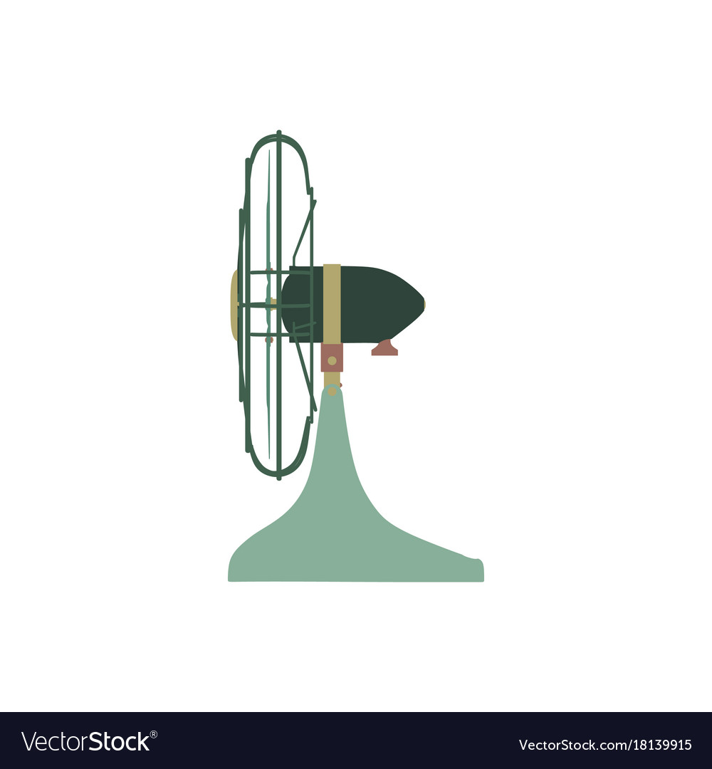 Fan green electric front view design style circle vector image