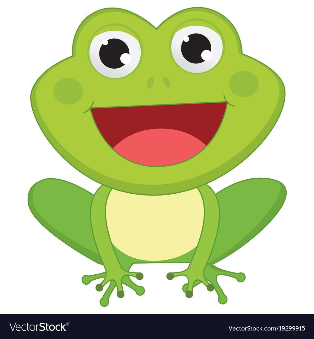 Of cartoon frog Royalty Free Vector Image - VectorStock