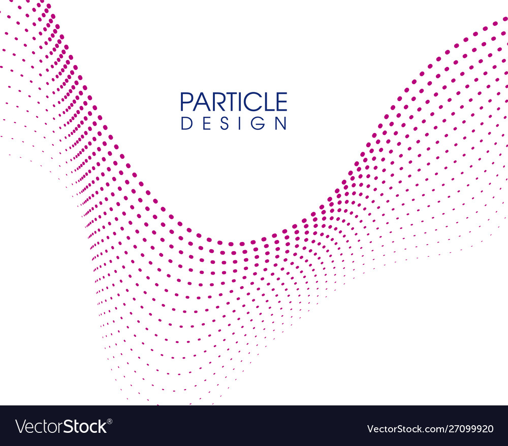 Abstract wave particle design