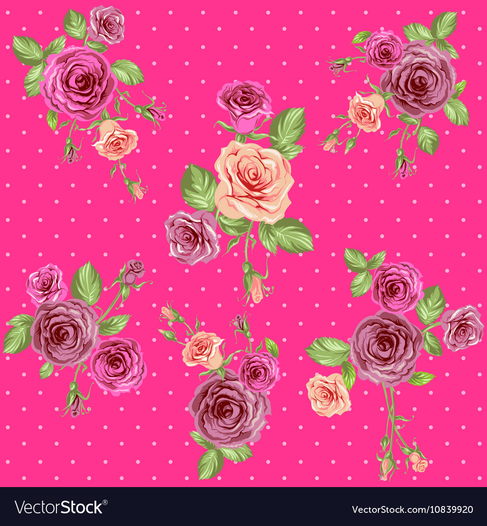 Bright pink floral pattern