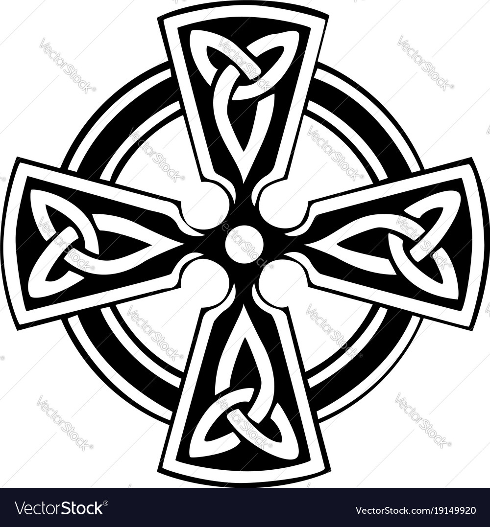 celtic cross royalty free vector image vectorstock rh vectorstock com celtic cross vector file celtic cross vector graphic