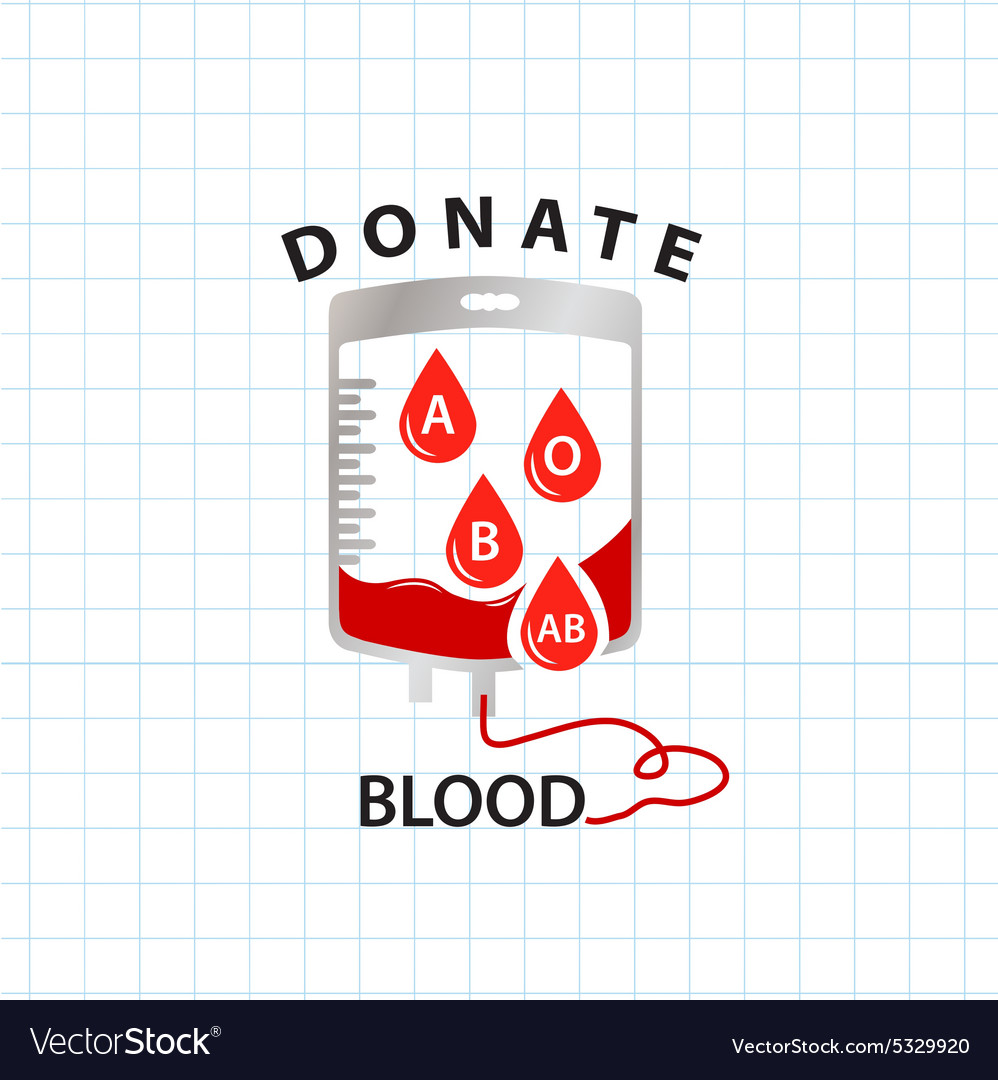 Donate blood concept with bag blood and drop blood
