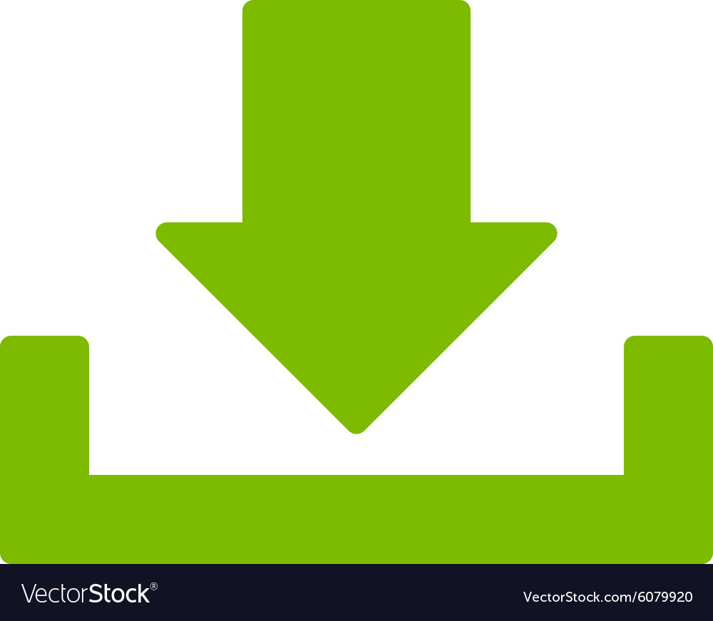 Flat Eco Green Color Icon Vector Image