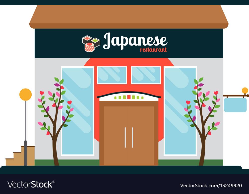 Japanese food restaurant front
