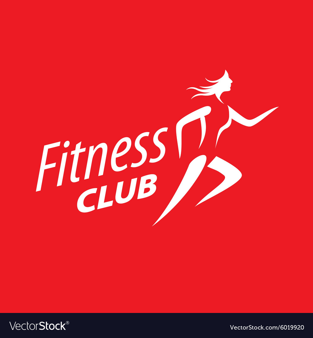 Logo running girl on a red background