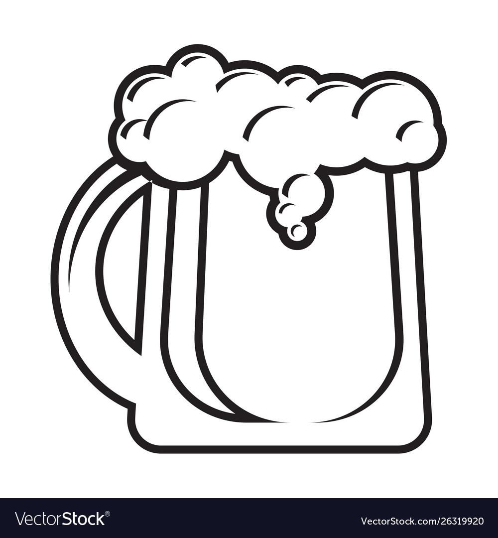 Mug beer icon isolated on white background
