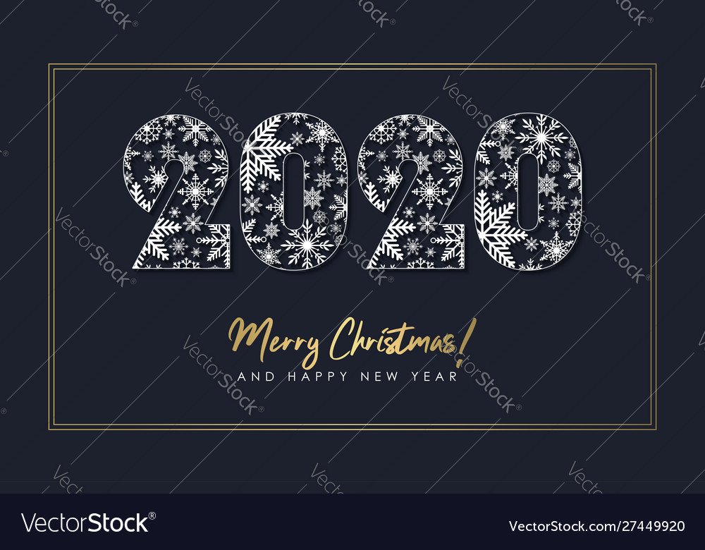 New year with 2020 number