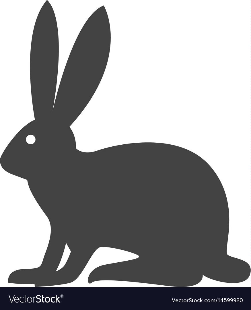 Rabbit logo template icon desi vector image