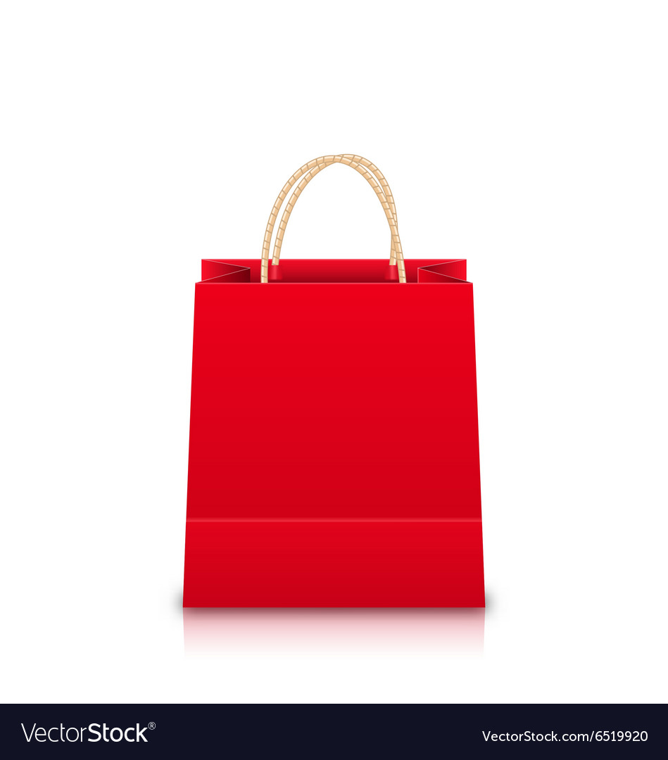 Red Empty Shopping Bag