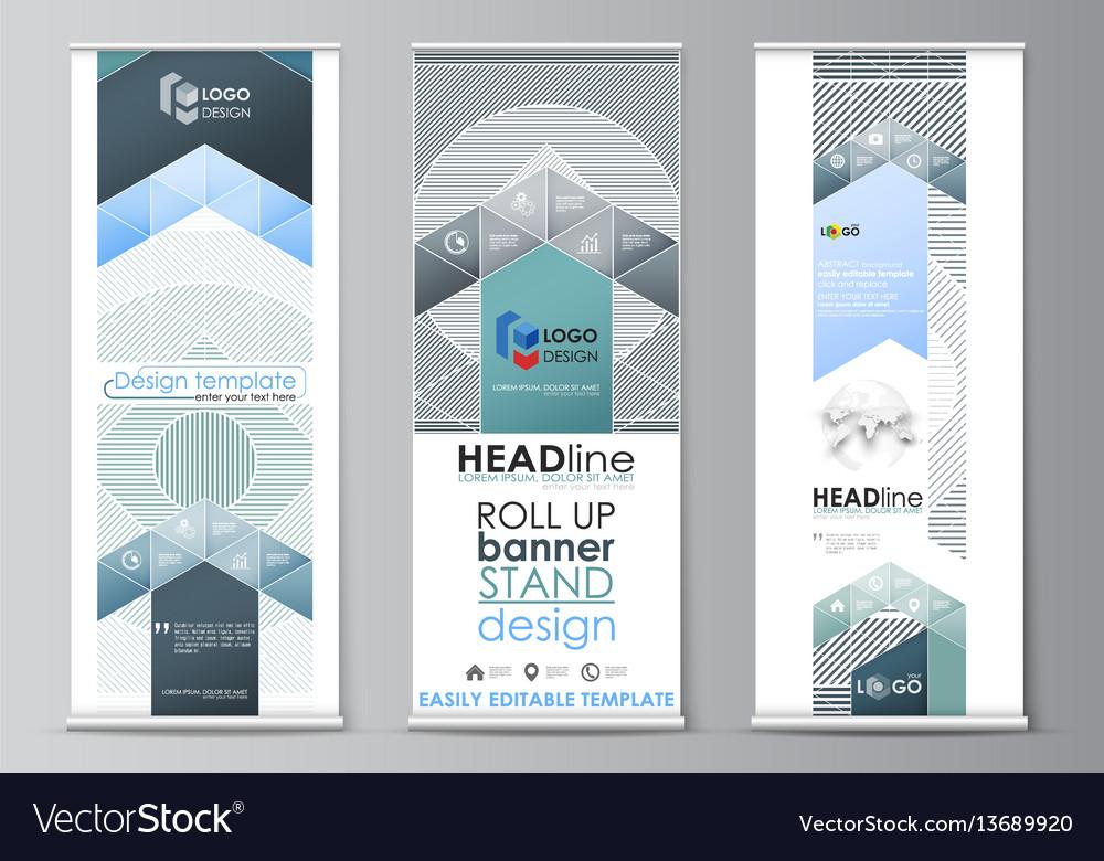 Banner Stand Design Templates. roll up banner stands flat design ...