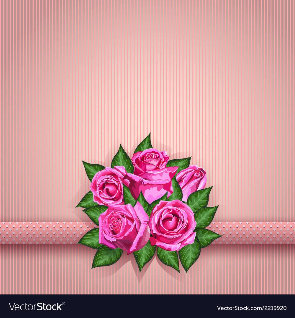Roses postcard pink