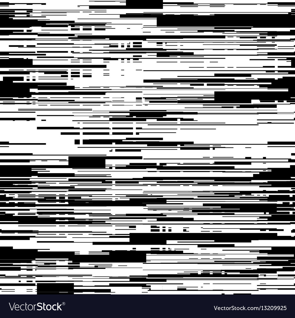 Abstract black and white background with glitch