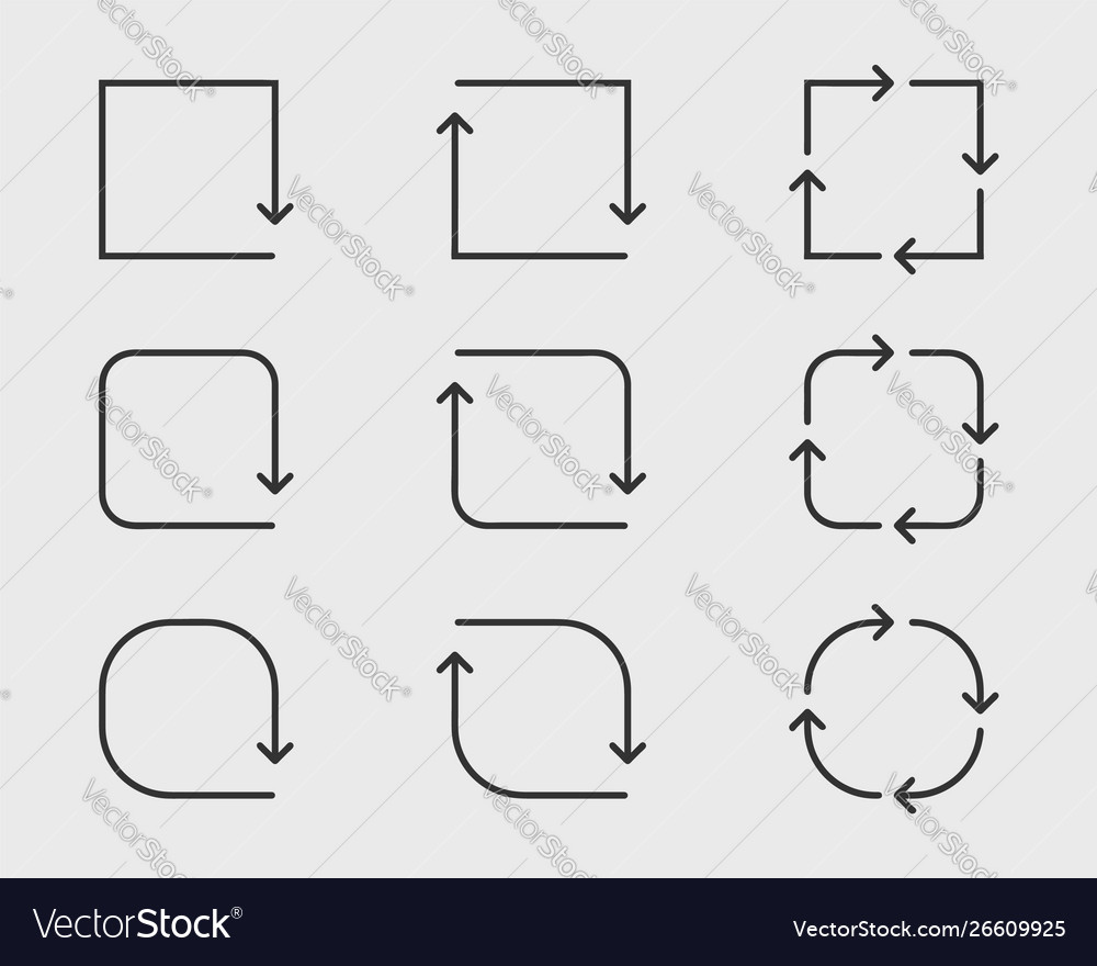 Collection arrows background black and white
