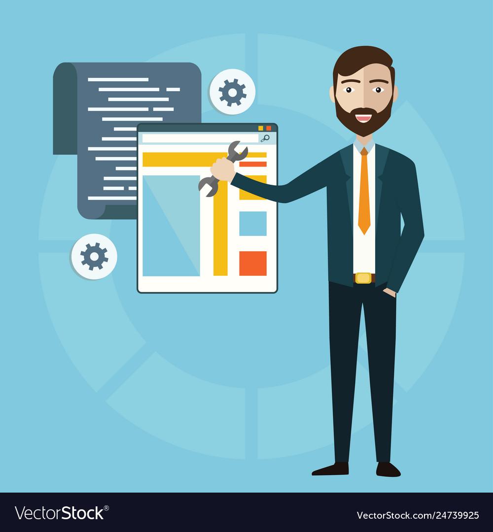 Concept programmer or coder workflow for