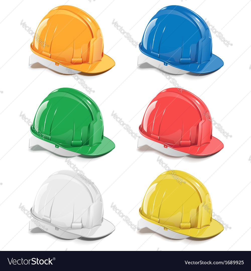 Helmet Icons vector image