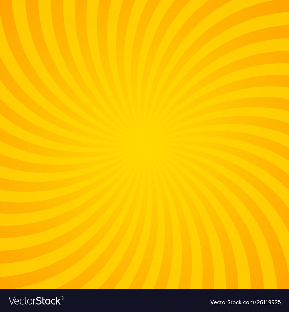 Orange sunburst background with radial lines