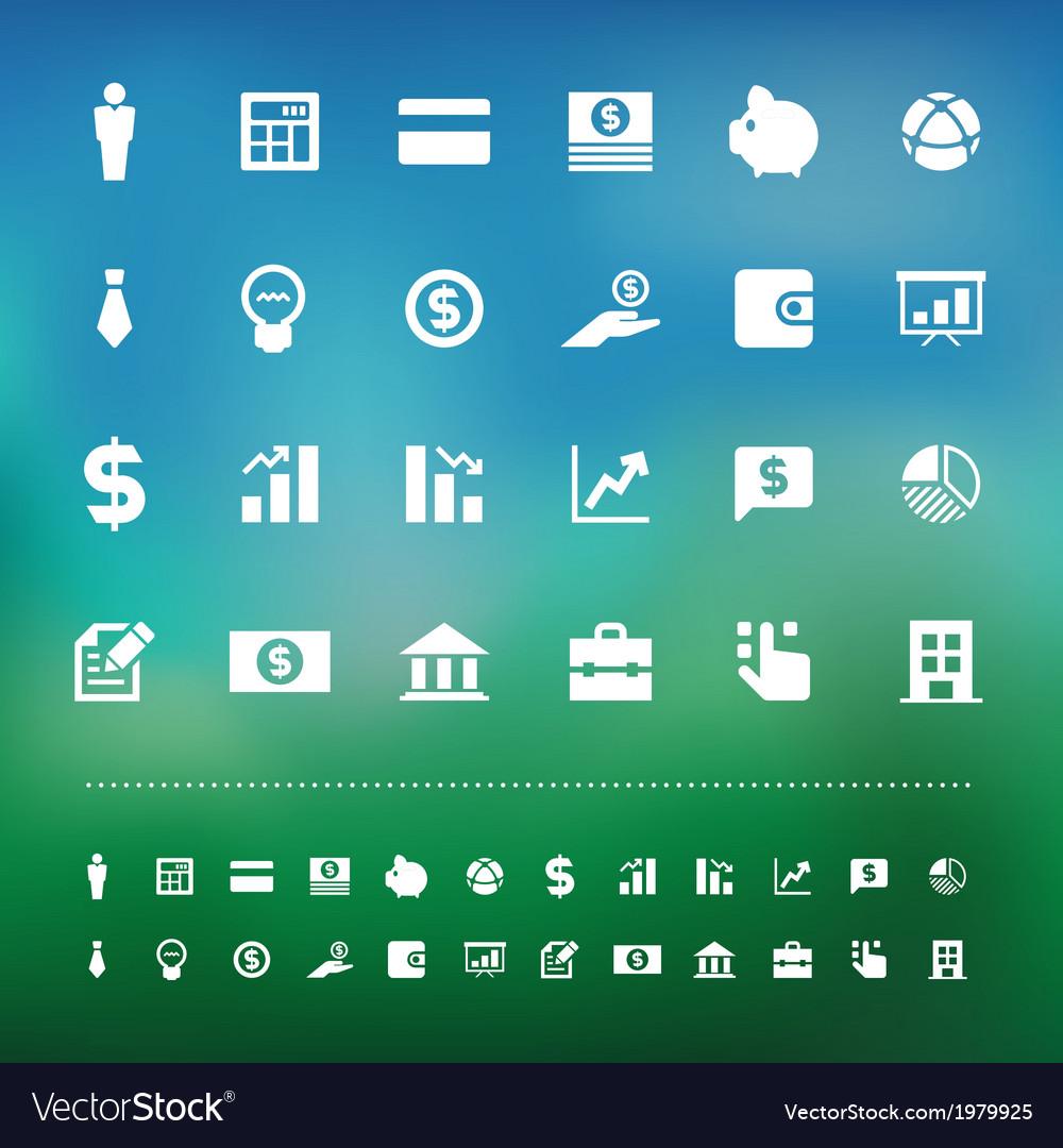 Retina business and finance icon set