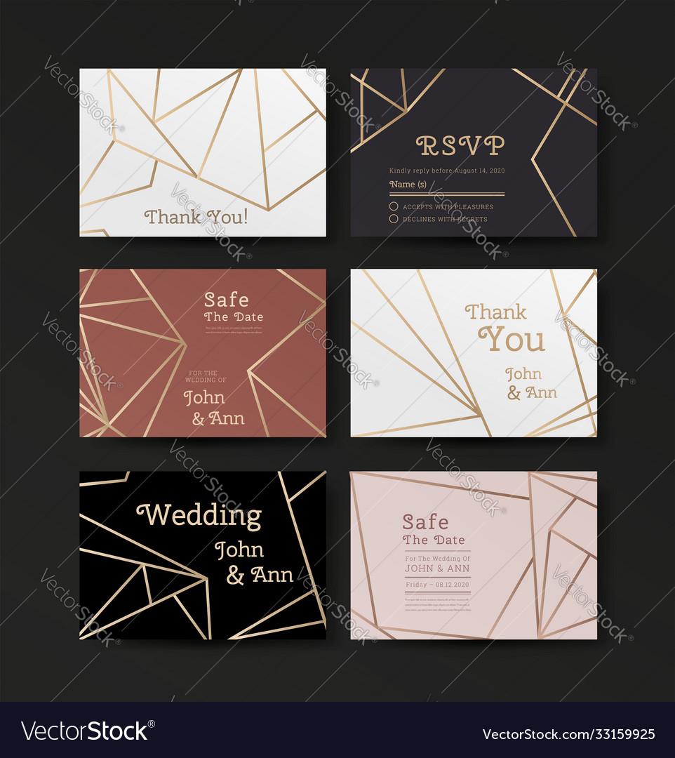 Series invitation wedding in art deco style