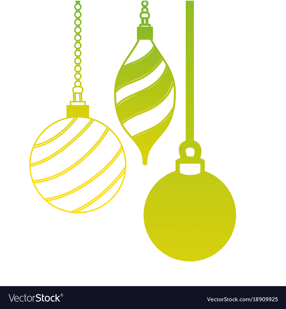 Hanging Christmas Ornaments Silhouette.Silhouette Oval And Circle Balls Hanging