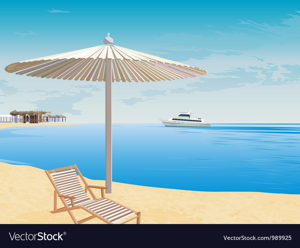 The background to the coast vector image