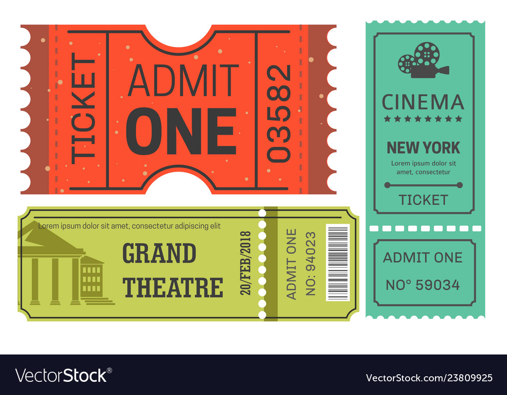 Tickets cinema and theater admission or pass