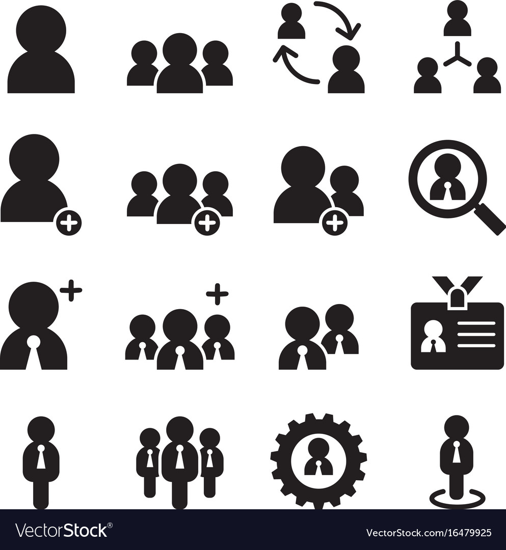 User businessman avatar icons set