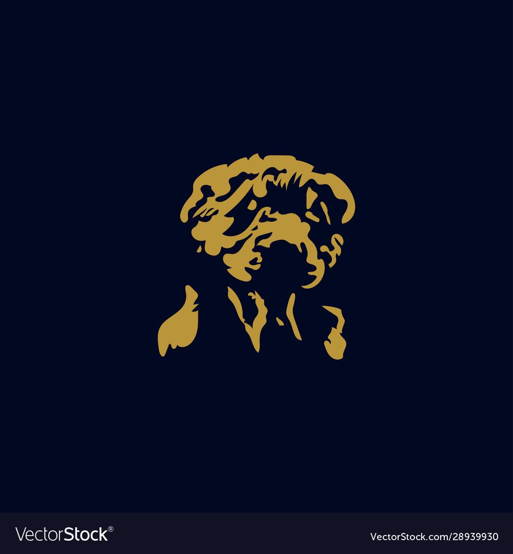 Abstract dog logo