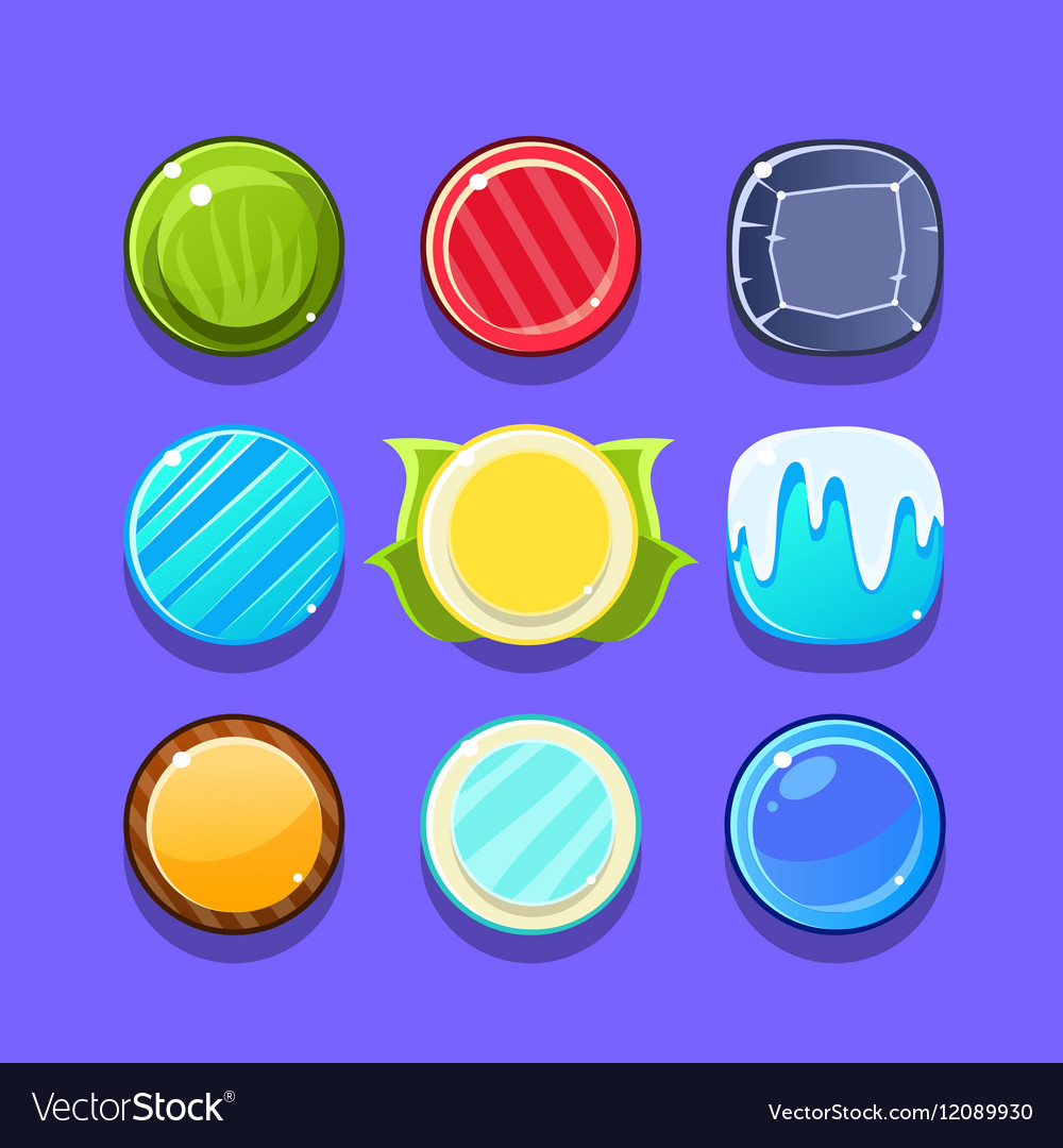 Colorful Candy Flash Game Element Templates Design