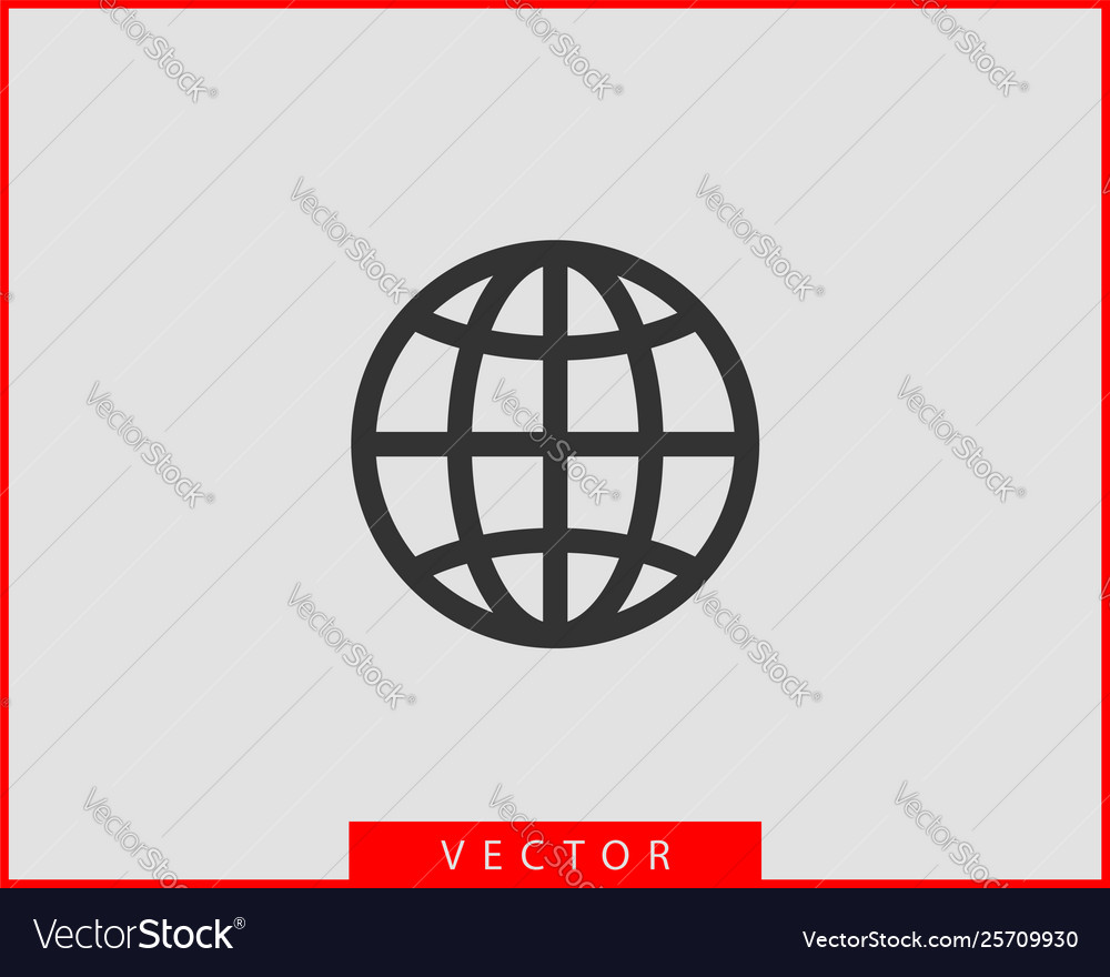 Earth globe icon symbol world map