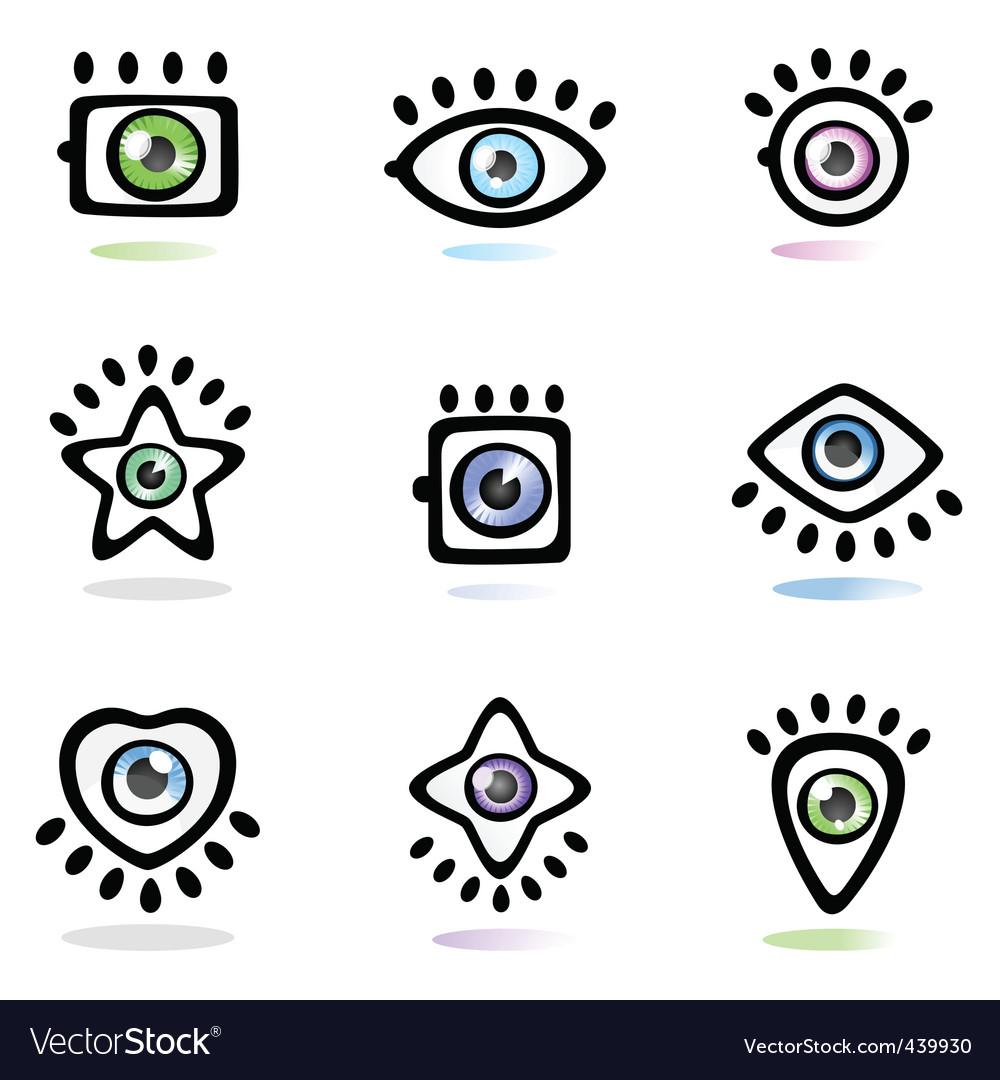 Eye Symbol Royalty Free Vector Image Vectorstock