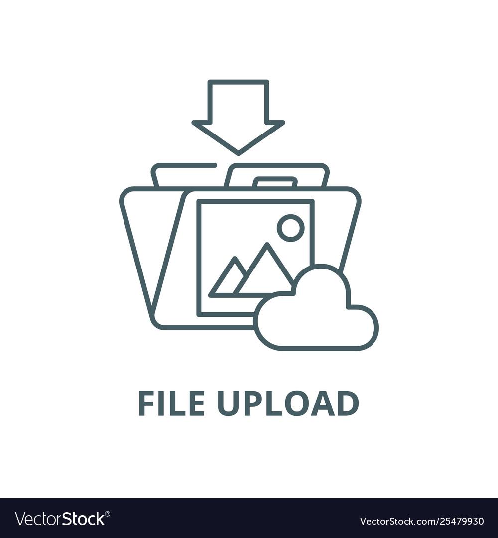 File upload line icon linear concept