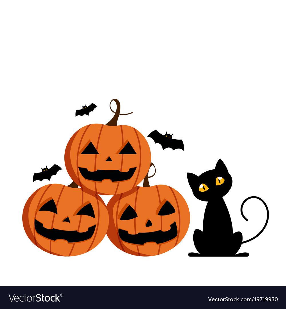 Cute Pictures Of Halloween.Happy Halloween Cute Pumpkin Smile Spooky Vector Image