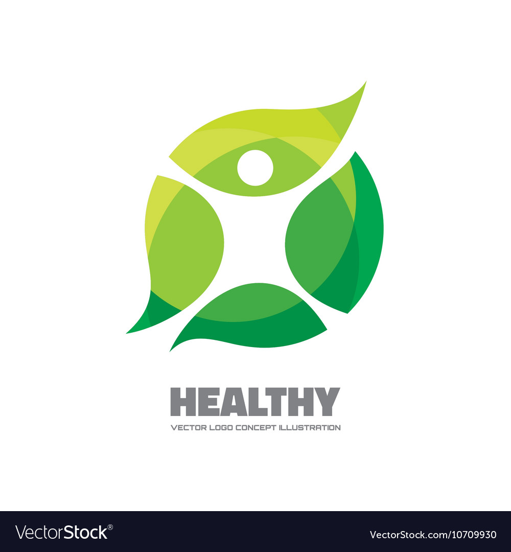 Healthy logo template
