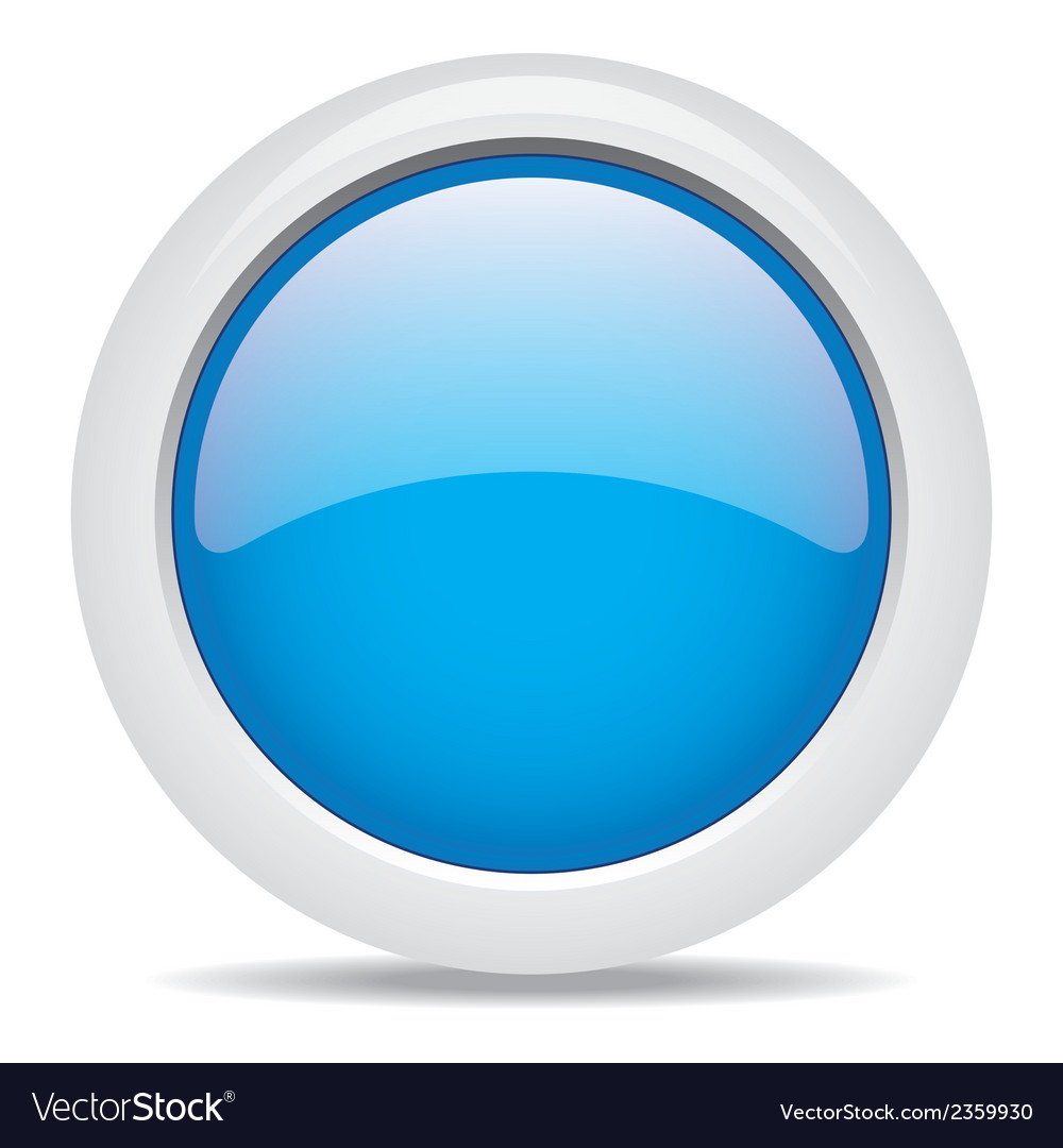 Popular Blue Color Web Button 3d Royalty Free Vector Image