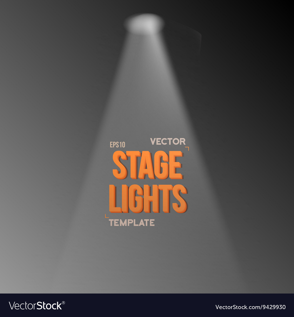 Transparent Studio Stage Light Effect Royalty Free Vector